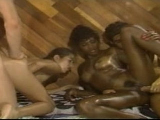 Vintage orgy session with angel kelly and elle rio