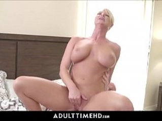 Big Tits Blonde amateur asian MILF Step Mom Lets Lonely Step Son Fuck Her