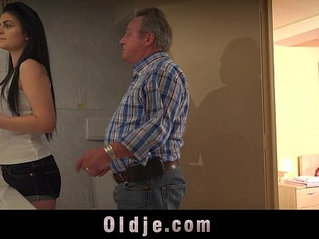 Young vagina needs every day fuck from step father old dick