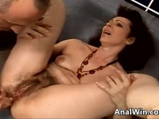 Hairy gilf being pounded in the ass