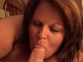 Cheating wife sucking some cock until he cums