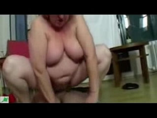 Old granny paid younger man to fuck her. Real party amateur