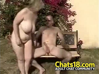 Wifey outdoor public voyeur fucking mature blond woman