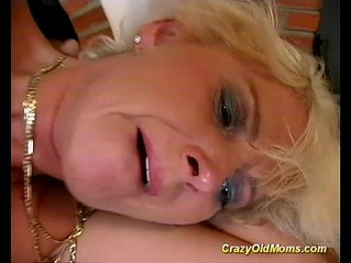 Crazy old mom gets drilled hard fucked