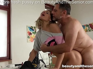 Lara West seduces old doctor Philippe Soine into fucking hard