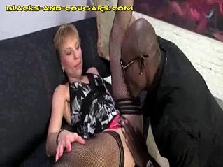 Black cock Sucked by Mature Blonde