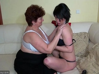 Oldnanny old fat grannies masturbating and enjoying with her young girl