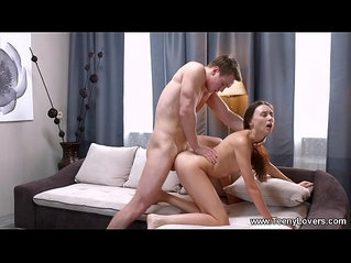 Teeny Lovers Teen Lily Cat rides cock like a cowgirl