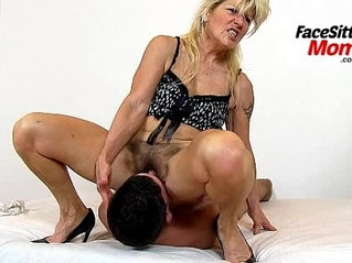 Hot legs amateur busty brunette milf Renate high heels and pussy eating