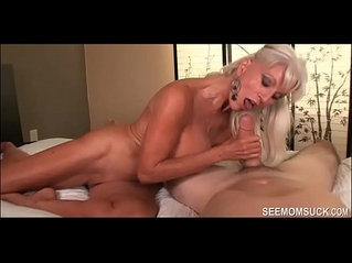 Granny goes wild over his huge dick see mom suck